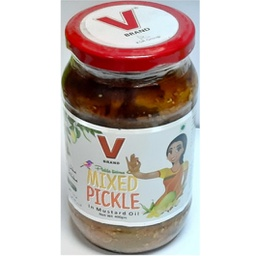 V-brand Mixed Pickle in Mustard Oil 400g